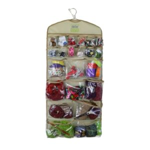 Clutter Keeper® Deluxe 44 Pocket Hanging Storage Organizer for Craft Supply Closet Organizing and More