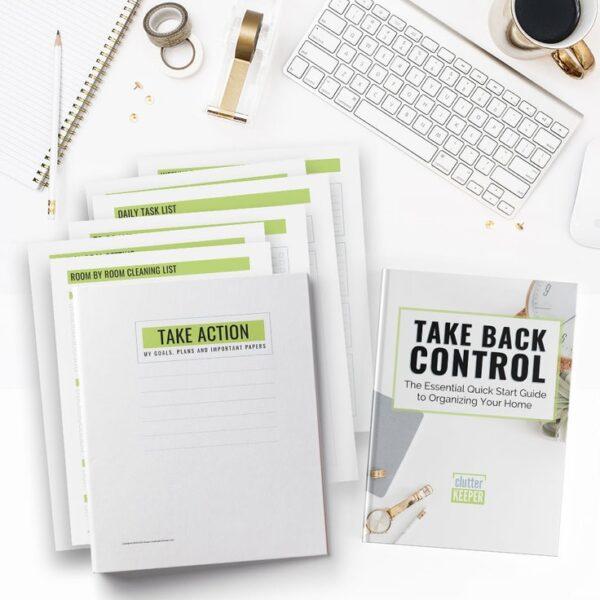 Take Back Control Quick Start Guide + Take Action Printables Binder Bundle